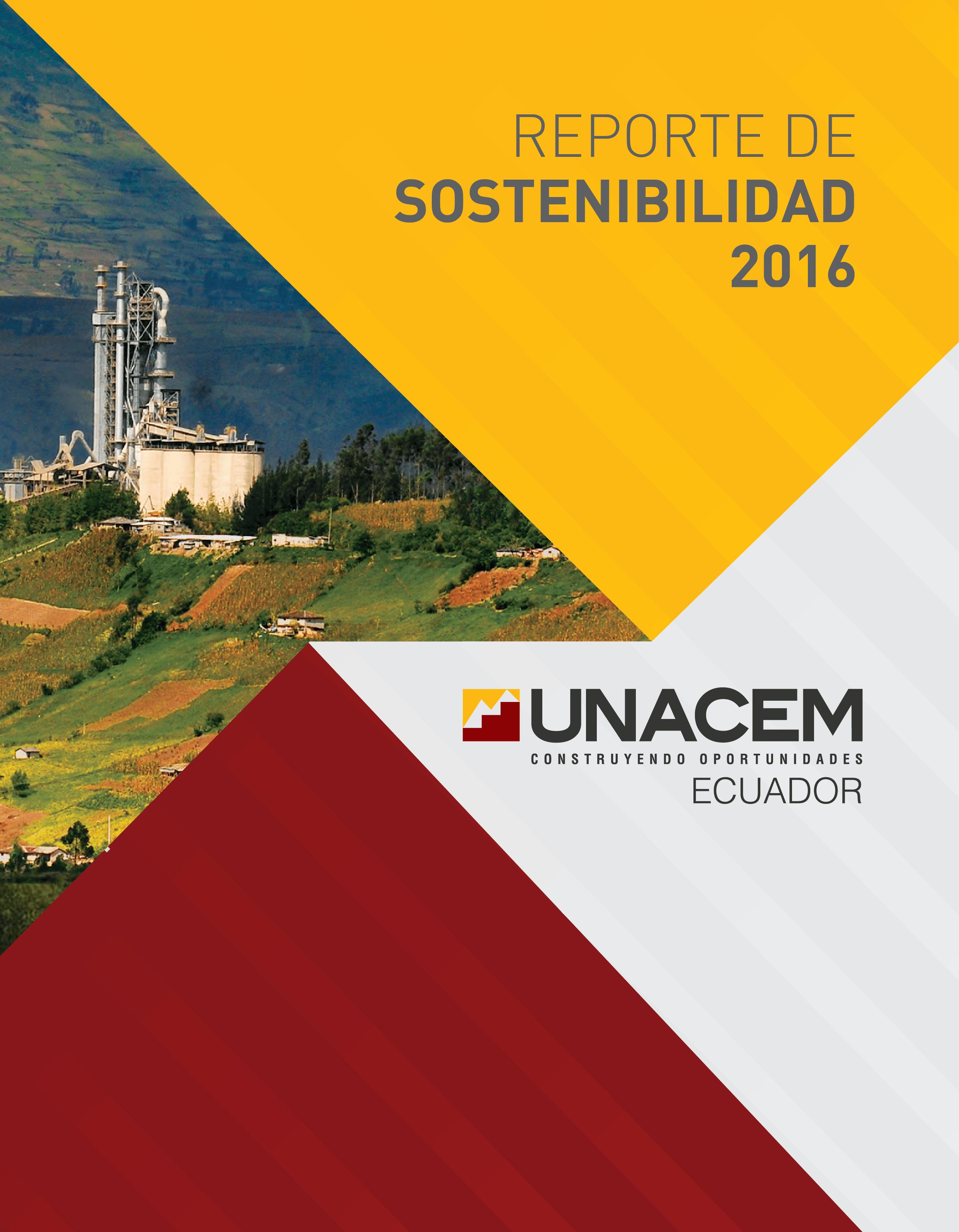 UNACEM Ecuador presenta su  Reporte de Sostenibilidad 2016